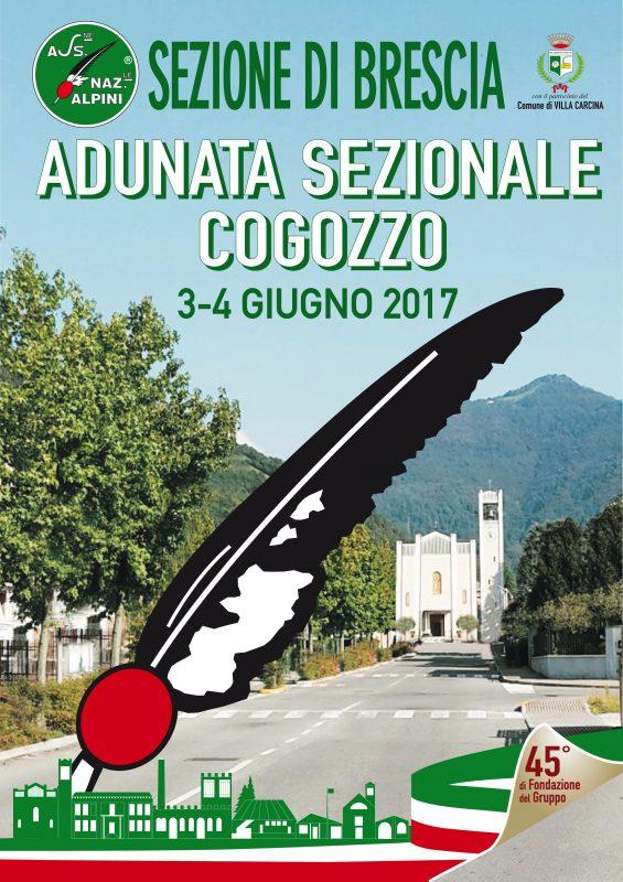 Manifesto Adunata Sezionale Cogozzo (Brescia) 2017