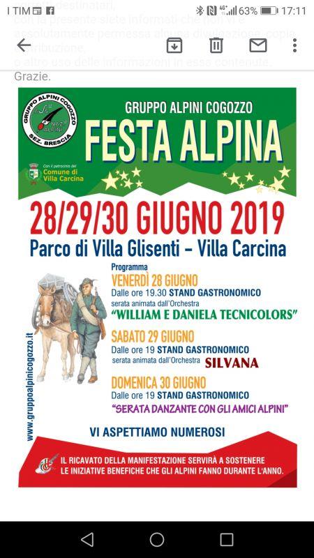 Festa Alpina Villa Glisenti